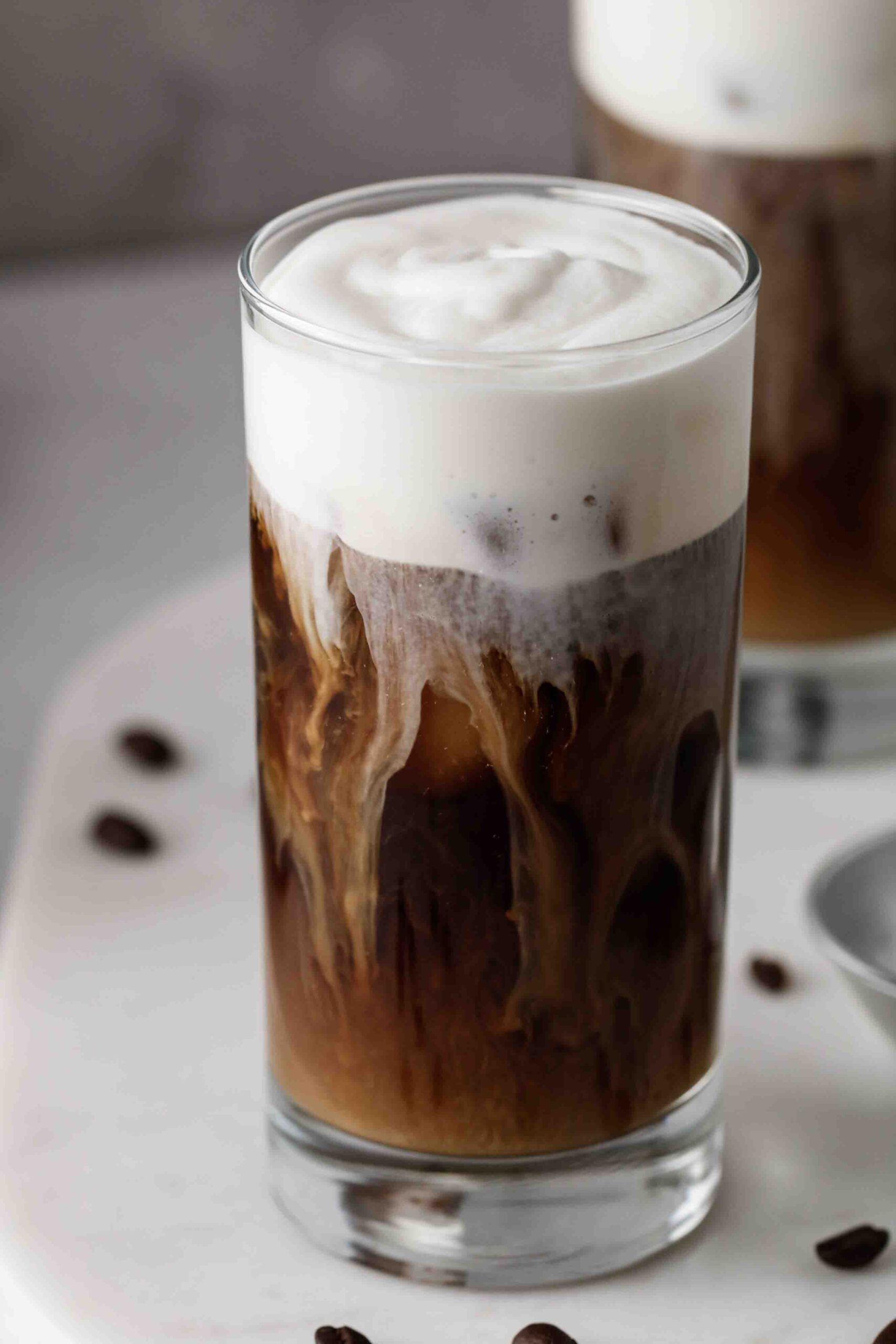 Starbucks salted cream cold brew cold foam swirls