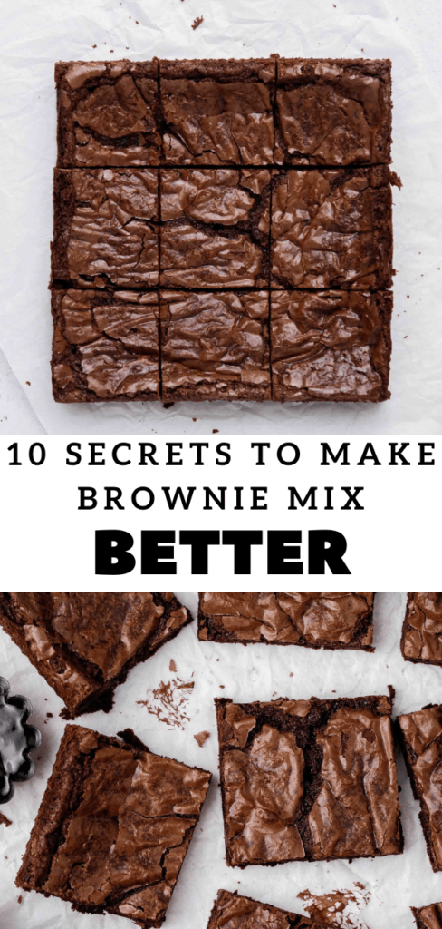 10 secrets on how to make boxed brownies better