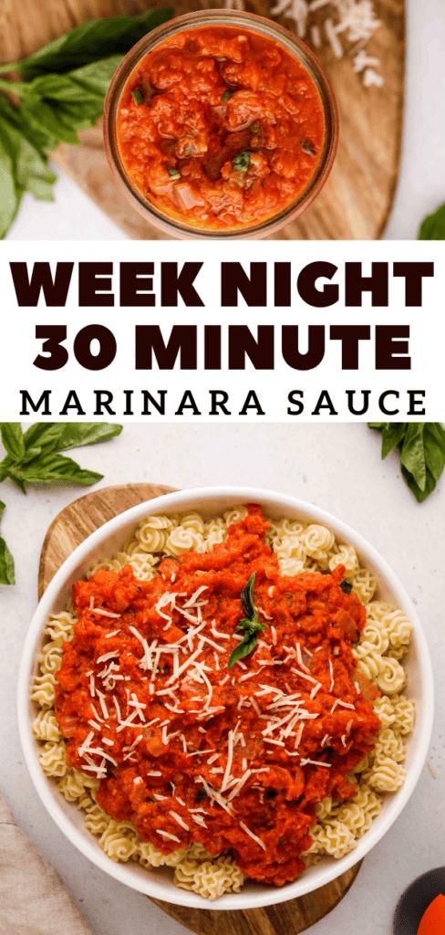 The best weeknight marinara sauce recipe