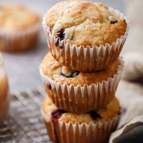 blueberry boxed pancake muffins
