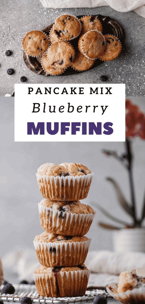 Pancake mix blueberry muffins