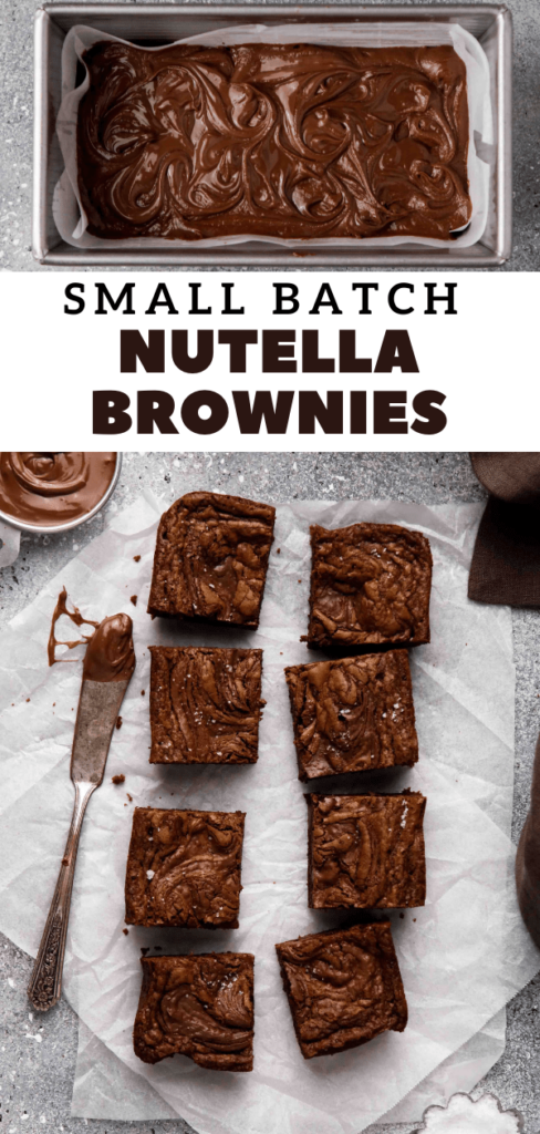 Small batch Nutella brownies recipe