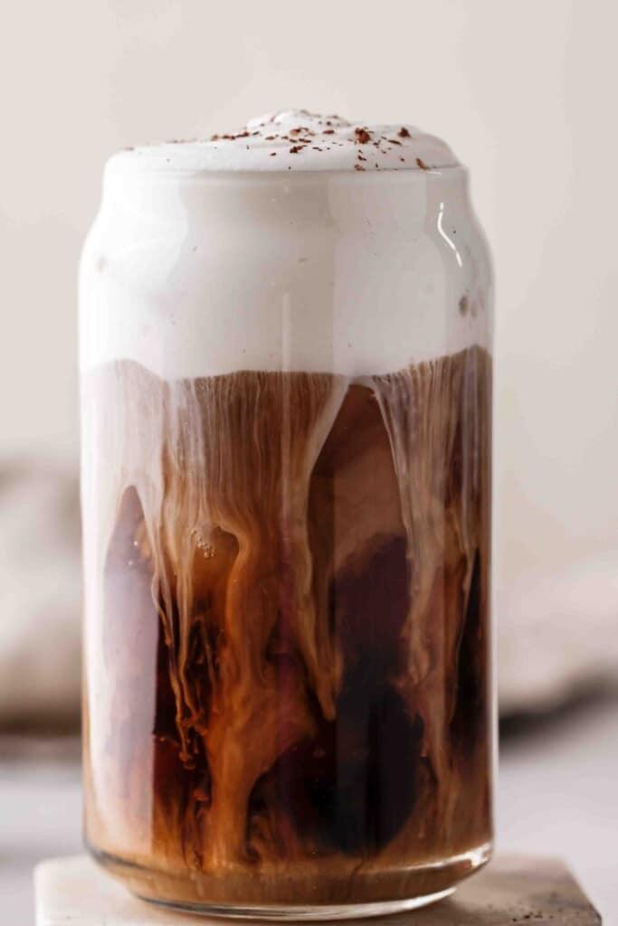 Irish cream cold brew sweet cream swirls