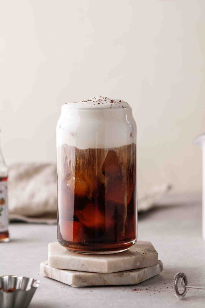 Layered cold brew coffee