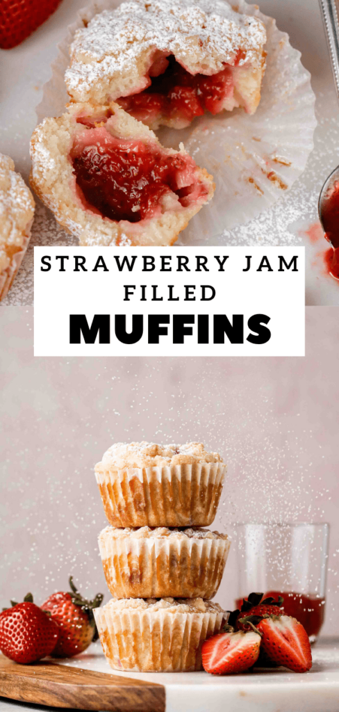 Strawberry muffins with streusel