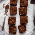 Overhead shot of small batch brownie recipe