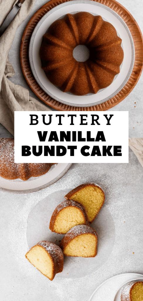 Buttery bundt cake recipe