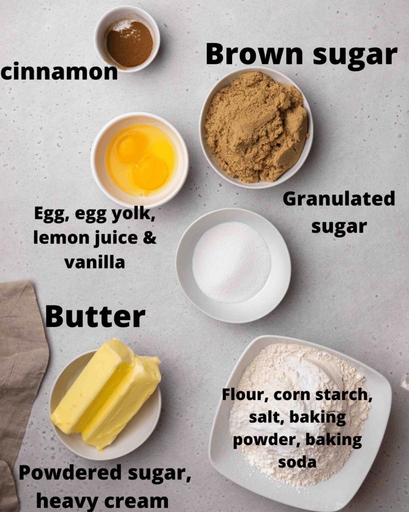 CRUMBL churro cookie ingredients
