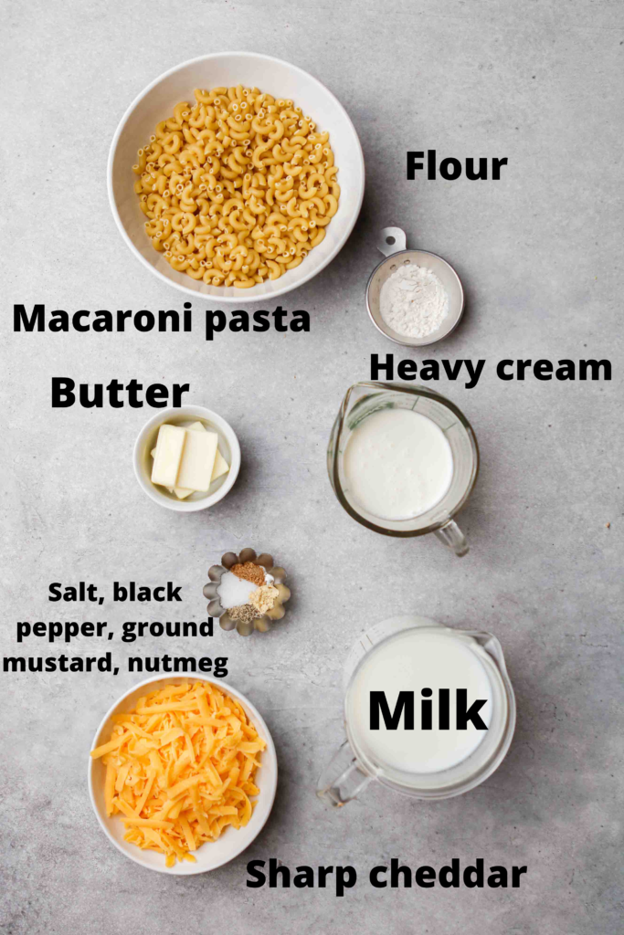 Stove top mac and cheese ingredients