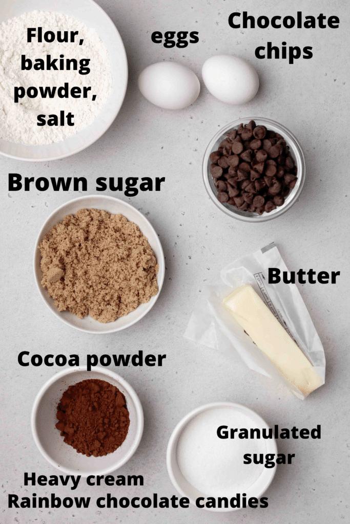CRUMBL cosmic brownie ingredients