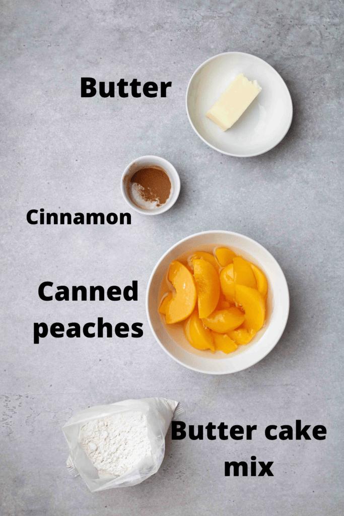 cake mix peach cobbler ingredients