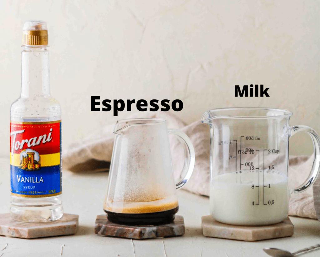 Starbucks blonde latte ingredients