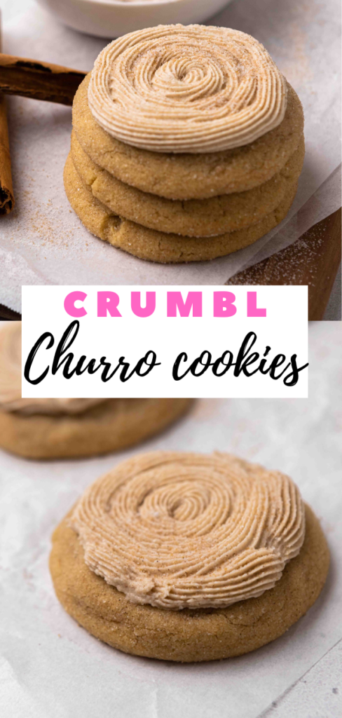 Stack of sugar churro cookies