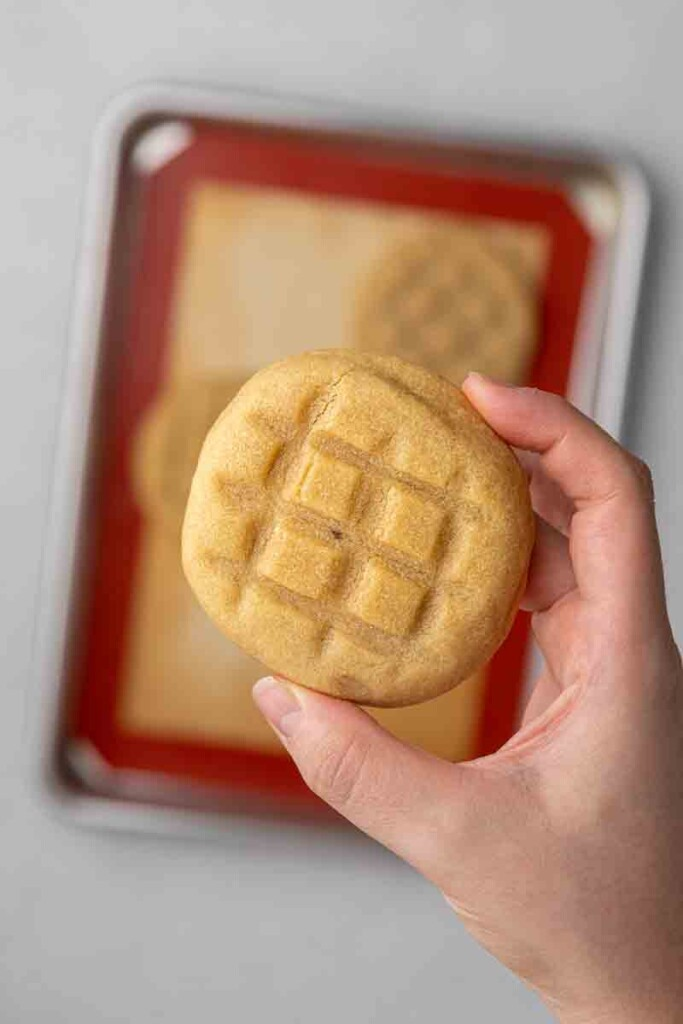 Waffle maple cookies