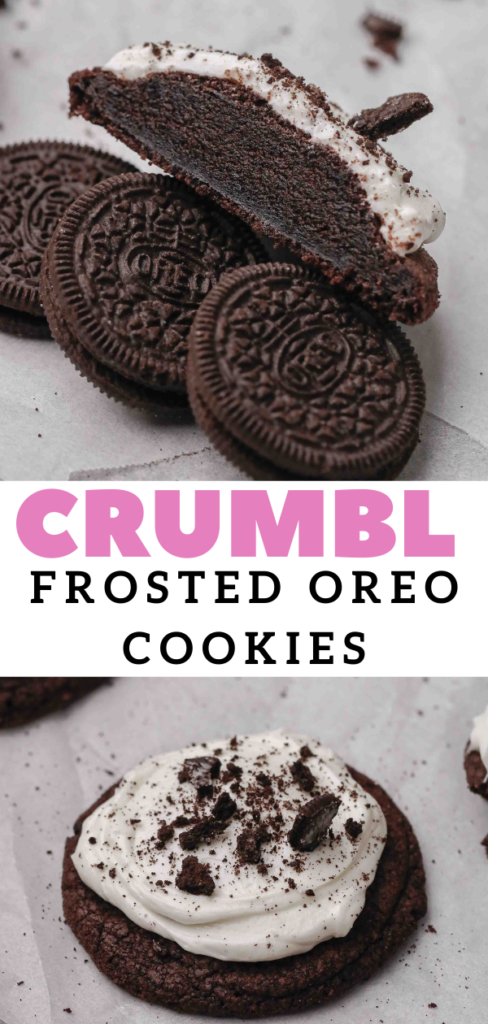 CRUMBL frosted oreo cookies