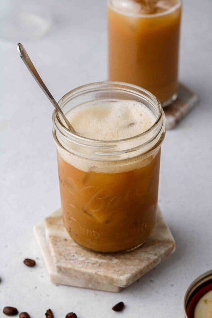 Starbucks iced brown sugar oat milk shaken espresso