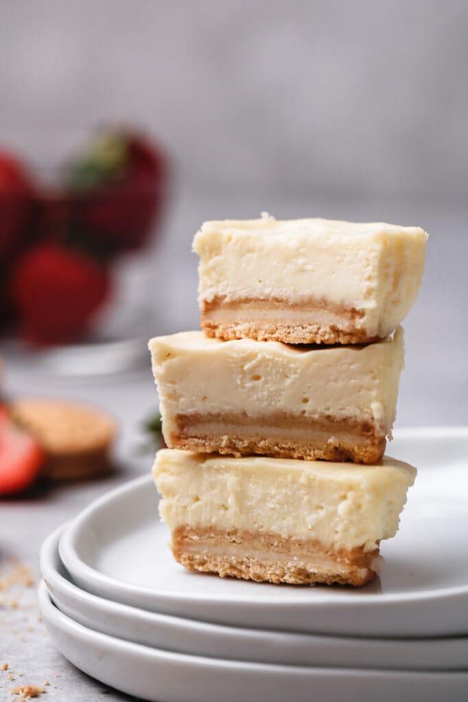Golden oreo cheesecakes