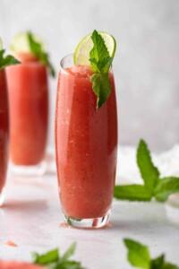 Summer mint watermelon slushie