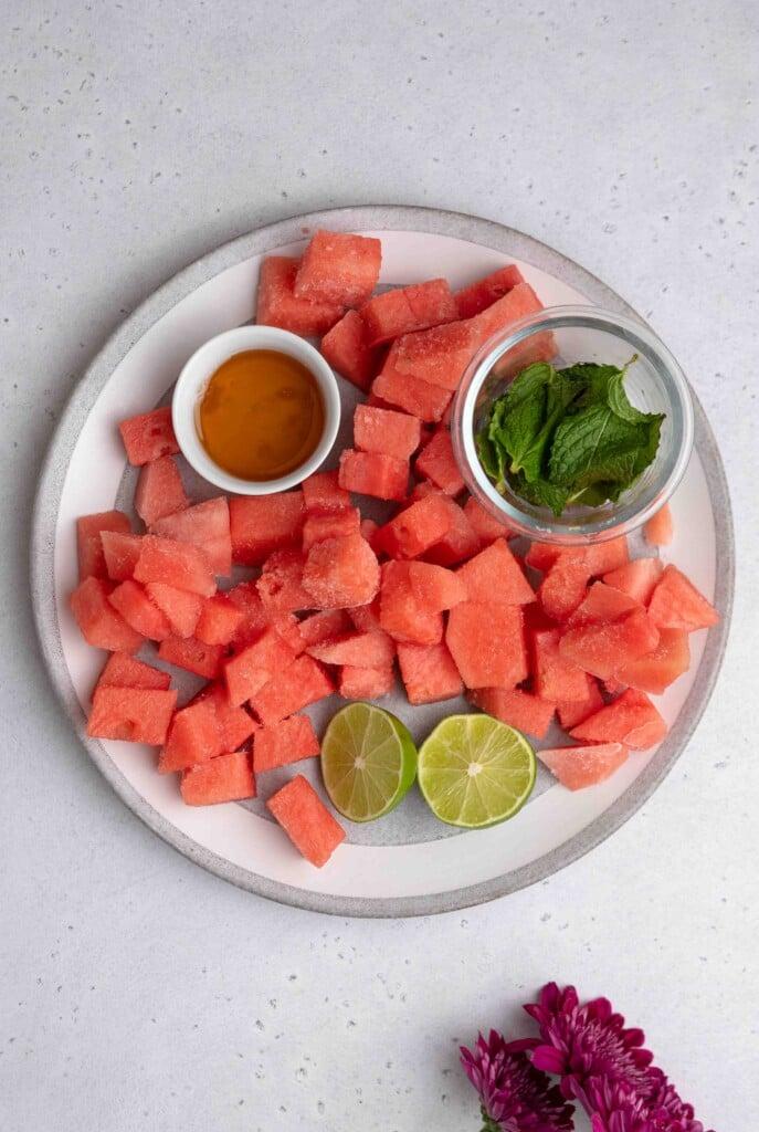 Mint watermelon slushie ingredients