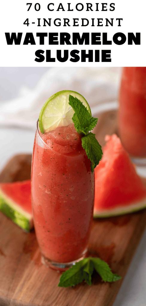 Summer watermelon slushie
