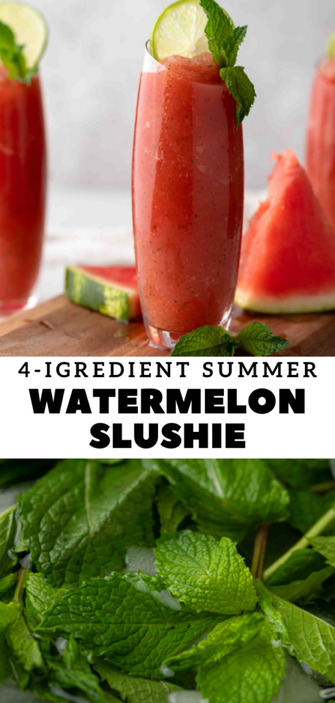 Margarita watermelon slushie