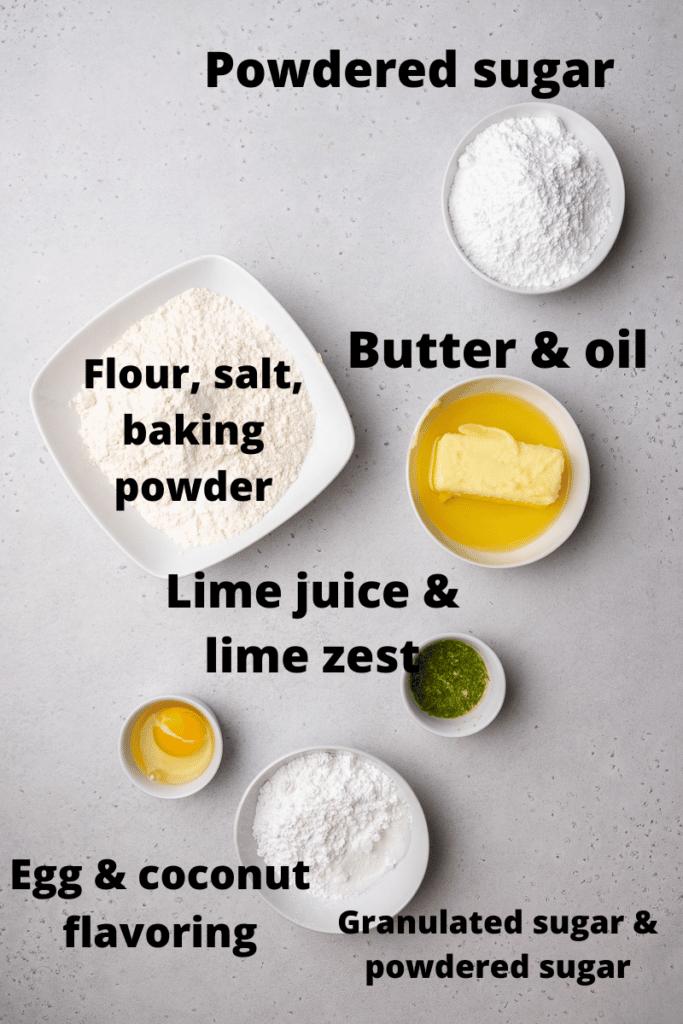CRUMBL coconut lime cookies ingredients