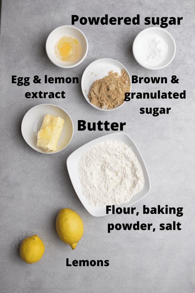 CRUMBL lemon glaze cookie ingredients