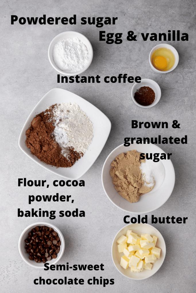 CRUMBL chocolate cake cookies ingredient