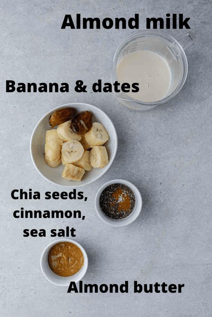 Date smoothie ingredients