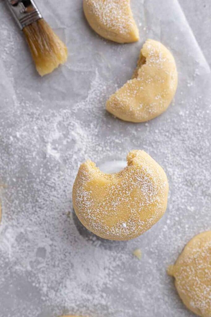 Overhead shot of Kentucky butter cake cookies