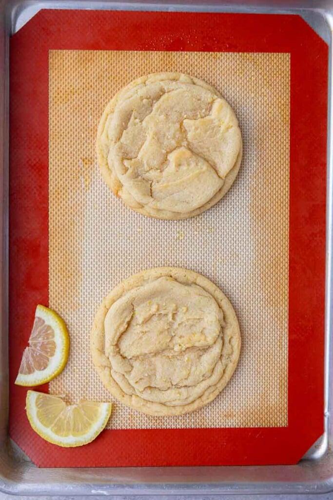 Baked CRUMBL lemon glaze cookies