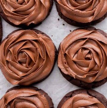 CRUMBL chocolate cake cookies