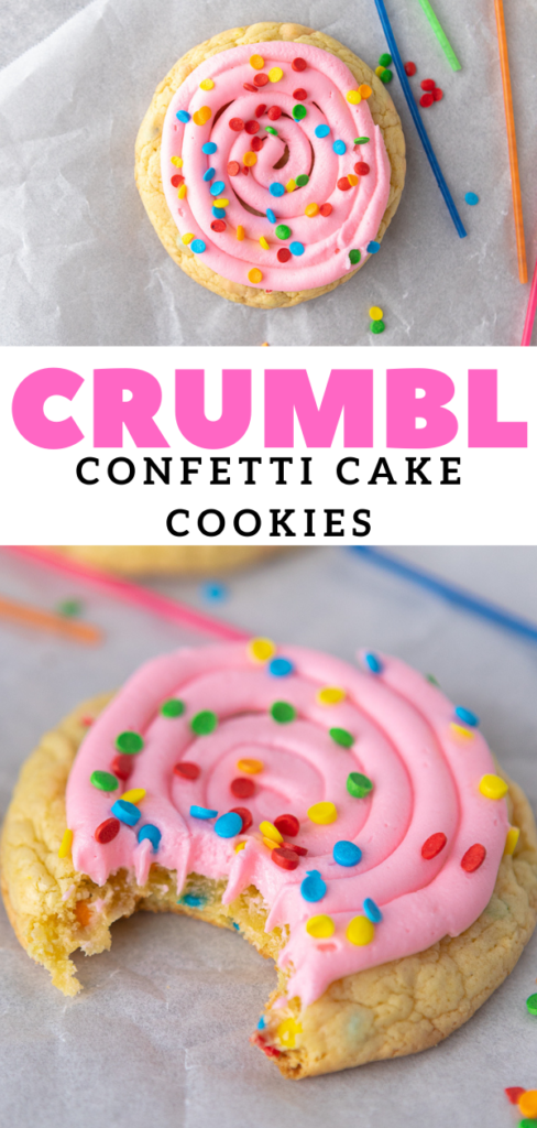 Pink frosted sprinkles cookies