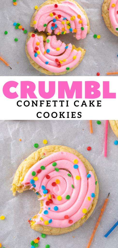 birthday cake frosted cookies