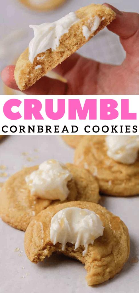 Cornbread cookies with honey buttercream