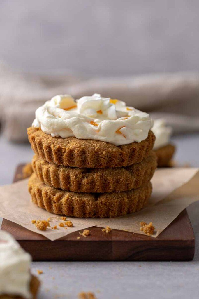 Stack of peaches and cream cookies