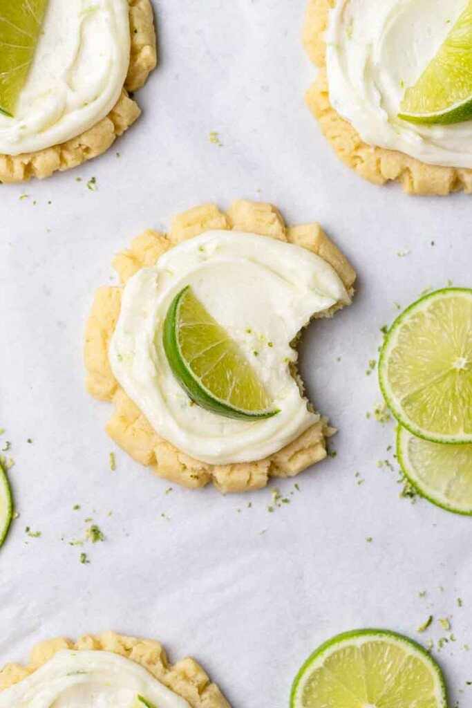 Coconut cookie with tangy lime frosting