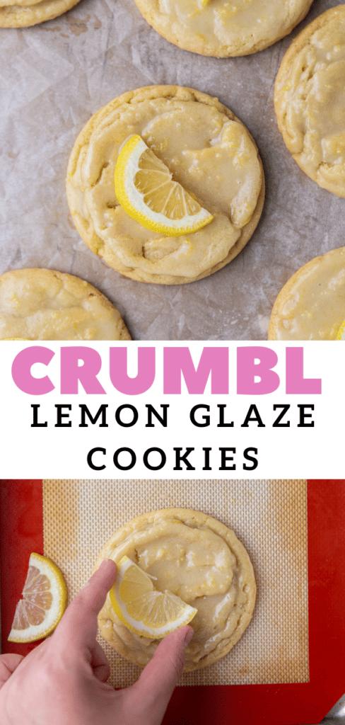Summer cookies with fresh lemons