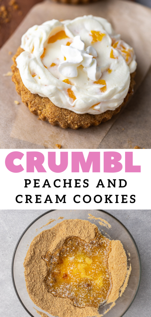Graham cracker cookie with peaches and cream