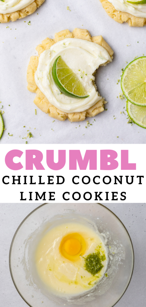 Chilled CRUMBL coconut lime cookies