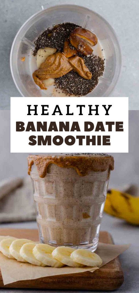 Healthy banana date smoothie