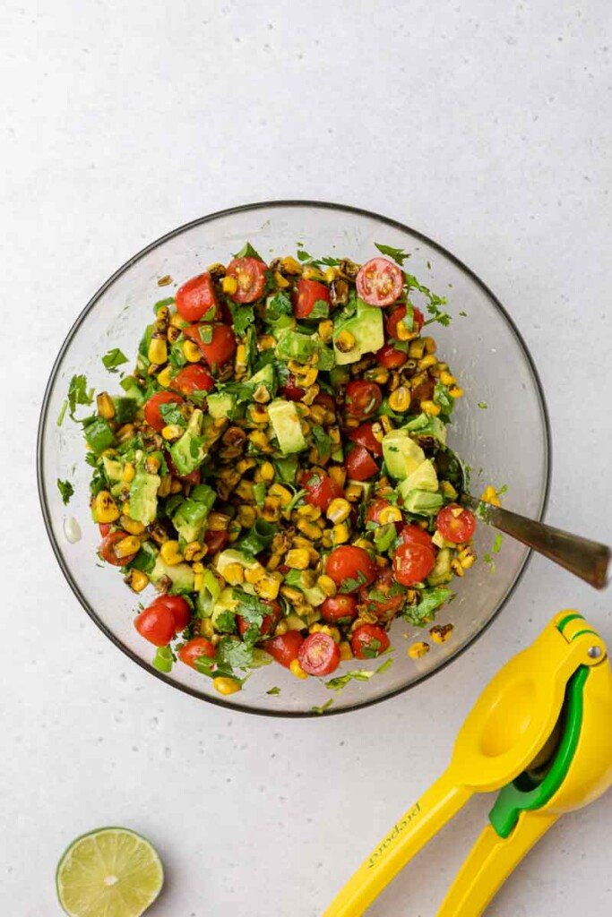 How to make roasted corn salad