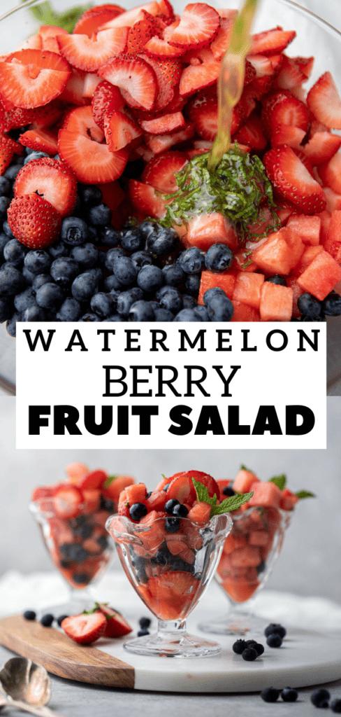 Watermelon berry fruit salad