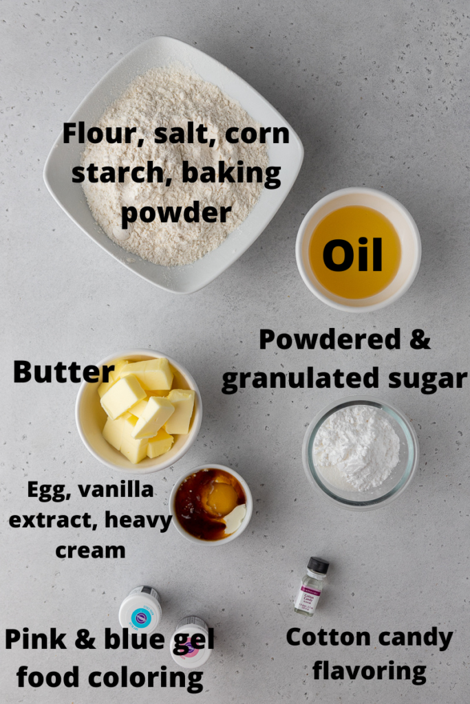 Crumbl cotton candy cookie ingredients