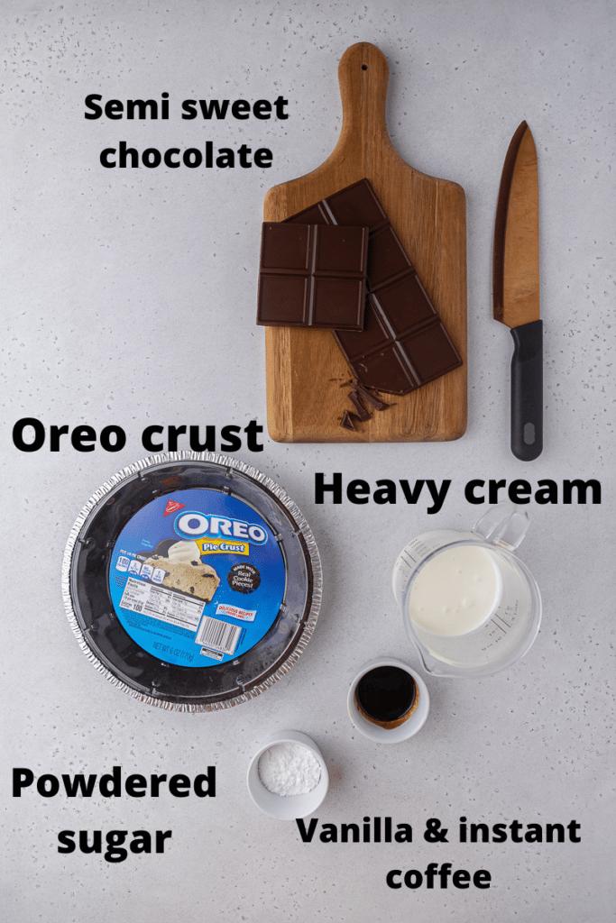 No bake chocolate pie ingredients
