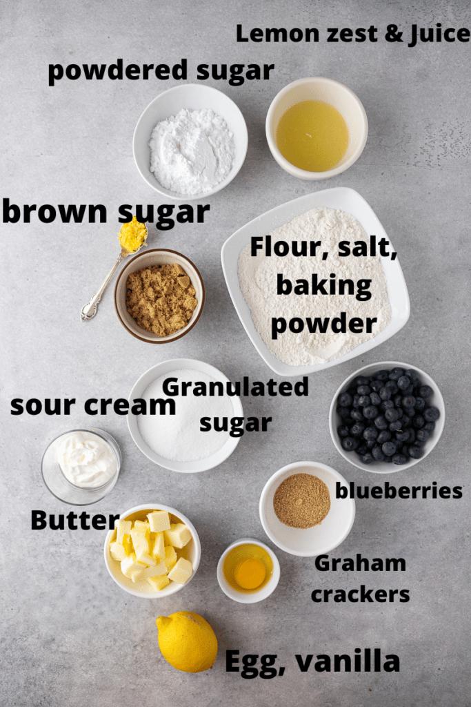 CRUMBL blueberry crumb cake cookie ingredients