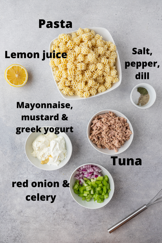 Tuna pasta salad ingredients