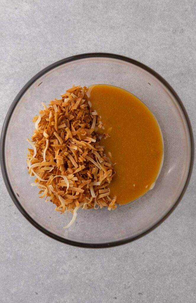 Toasted coconut and caramel