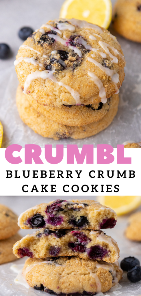 Texture of blueberry muffin top cookies