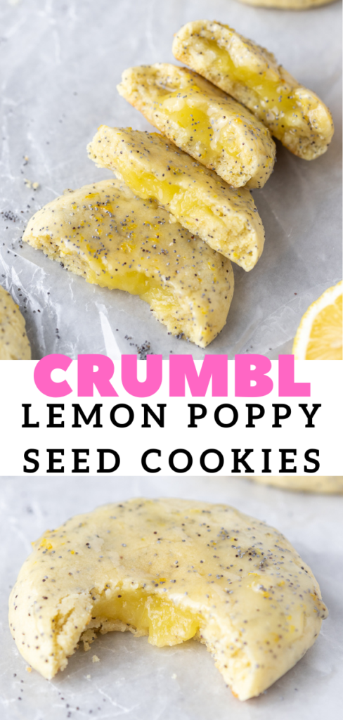 Easy CRUMBL poppy seed cookies